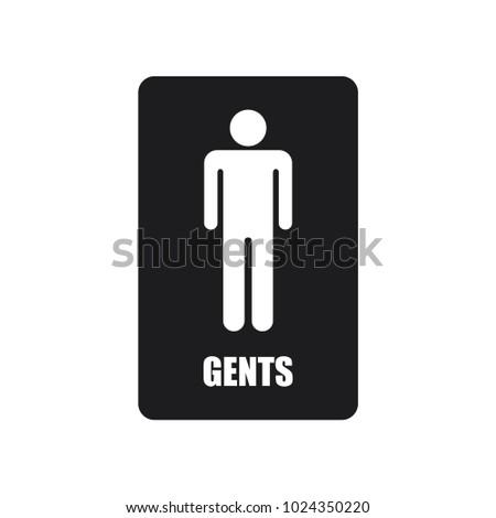 Image of: Men S Bathroom Sign Vector For Mens Toilet Sign Mens Toilet Sign Stock Vector royalty Free 1024350220 Shutterstock