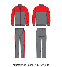 Men's tracksuit vector template for your design. Vector illustration.