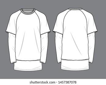 Men's White T-Shirt Vector mock up