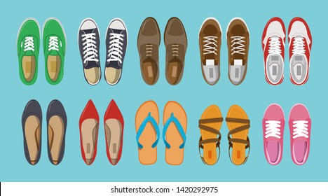 Top View Shoes Images, Stock Photos
