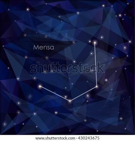 mensa constellation night sky background s stock vector royalty