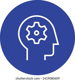 Mental Ability Comprehension Outline Icon