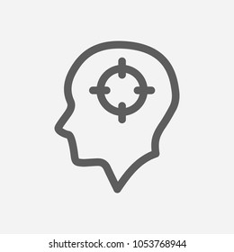 Mental concentration icon line symbol. Isolated vector illustration of  icon sign concept for your web site mobile app logo UI design.