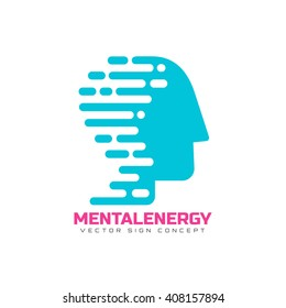 Mental energy logo concept. This logo can be used for science, sport, medical purposes, or any other business.