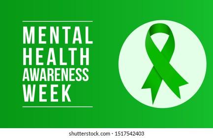 Mental Health Awareness an annual campaign highlighting awareness of mental health. Vector design illustration.