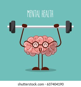 mental health brain lifting weights image