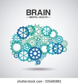 mental health design, vector illustration eps10 graphic