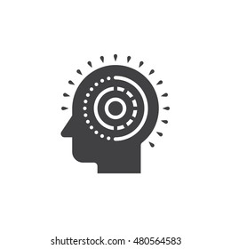 Mental health icon vector, solid logo illustration, pictogram isolated on white