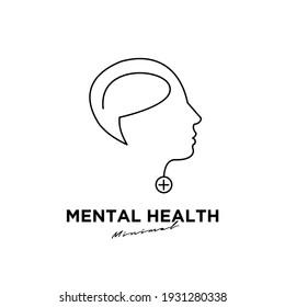 Mental health logo icon design
