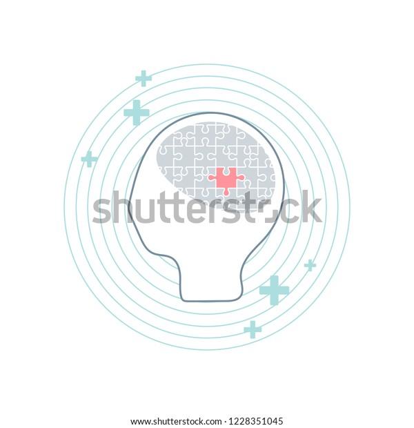 Mental Health Understanding Acceptance Vector Stock Vector