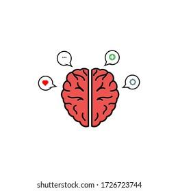 Mental health vector graphic design illustration