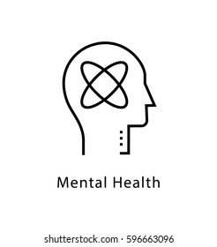 Mental Health Vector Line Icon