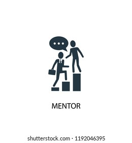 mentor icon. Simple element illustration. mentor concept symbol design. Can be used for web and mobile.