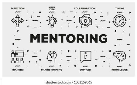 MENTORING LINE ICON SET