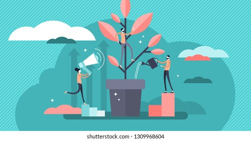 Mentoring vector illustration. Flat tiny motivation couch persons concept. Employee education development teacher and inspiring leader knowledge. Personal or career goal achievement strategy advice.