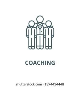 Mentor,mentorship,coaching vector line icon, linear concept, outline sign, symbol