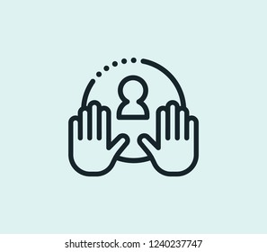 Mentorship icon line isolated on clean background. Mentorship icon concept drawing icon line in modern style. Vector illustration for your web mobile logo app UI design.
