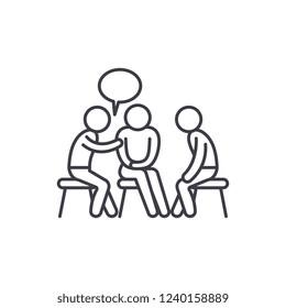 Mentorship line icon concept. Mentorship vector linear illustration, symbol, sign