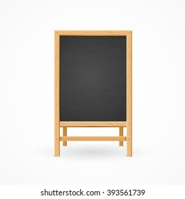Menu Black Board Isolated. Template Is Ready. Vector illustration