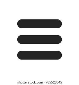 Menu button of three horizontal lines icon
