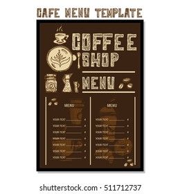 menu cafe template poster