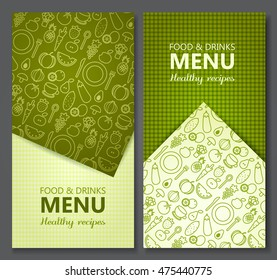 Menu Card Design templates. Vector Illustration.