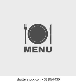 menu with cutlery sign. vector illustration EPS