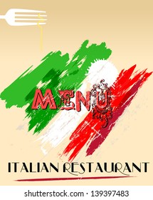 Menu design for italian restaurant, free space for your logo.