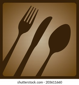 Menu design over brown background, vector illustration