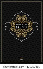 Menu design for restaurant.Oriental cuisine menu design.