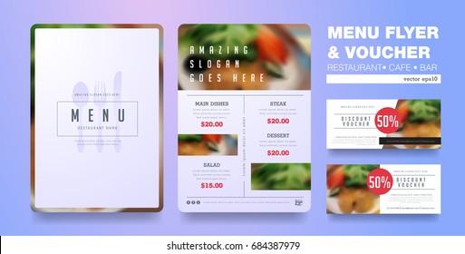 Menu design template with clean design,Restaurant cafe menu, template design, organic food flyer