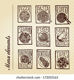 MENU ELEMENTS - Meals background pattern