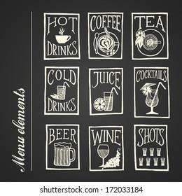 MENU ICON - Drinks blackboard
