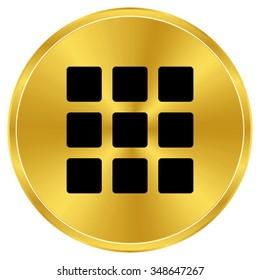menu icon - gold vector icon
