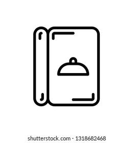 Menu Icon Logo Vector Template. Editable Stroke and Pixel Perfect.