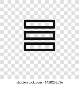 menu icon from miscellaneous collection for mobile concept and web apps icon. Transparent outline, thin line menu icon for website design and mobile, app development