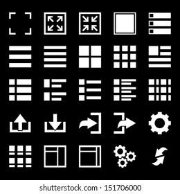 Menu Icon set - White
