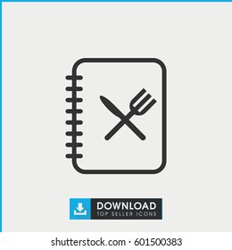 menu icon. simple outline menu vector icon. on white background.