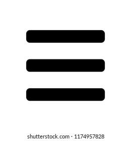 Menu icon v ector