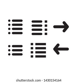 menu icon vector design template