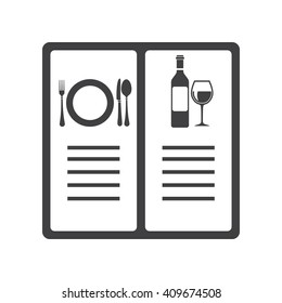 menu icon Vector Illustration on the white background.