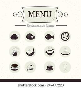 Menu icons set. Vector illustration EPS10