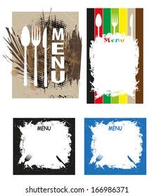 menu  illustration with grunge background