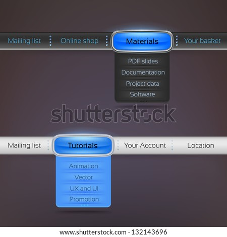 menu navigation bar interface layout design stock vector royalty