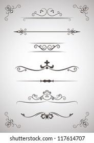 Menu Ornament elements