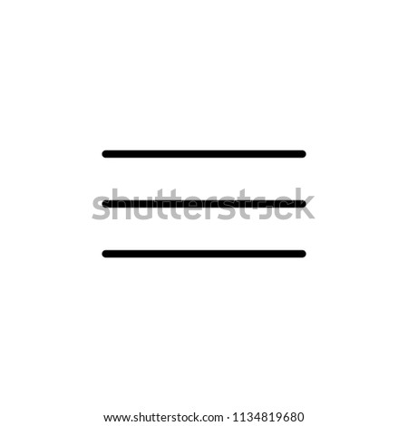 menu outline icon stock vector royalty free 1134819680 shutterstock