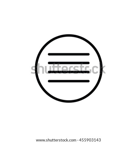 menu outline icon stock vector royalty free 455903143 shutterstock