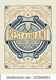 Menu restaurant cover