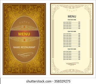 menu restaurant, service, list cover, book, page, east, ornament, pattern, vegetable