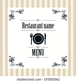 Menu template design for restaurant in vector